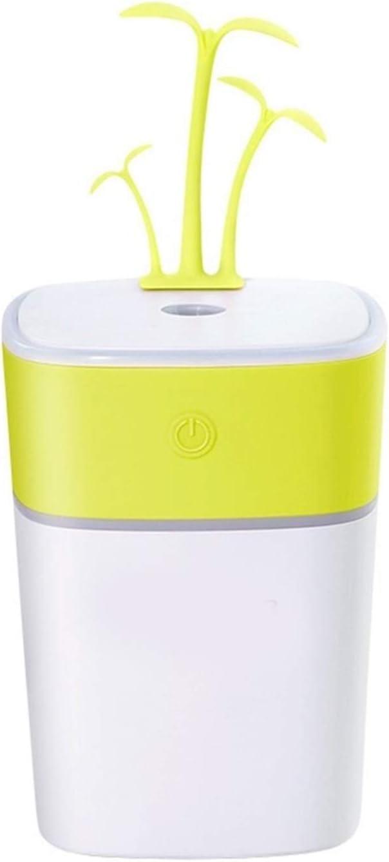Fan Cute Grass Fan Rechargeable USB Night Light Small Fan Mini Handheld Fan Car Home Outdoor Portable Mini Portable Cooling Fan Color : Pink