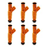 injector coil - QUIOSS 6 pcs Fuel Injector For JEEP Grand Cherokee Wrangler Comanche 4.0L 0280155700, 0280155710