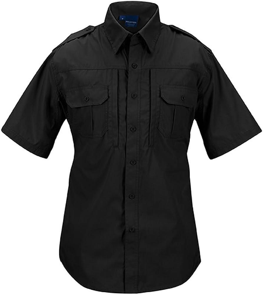 X-Small Regular Black Propper Mens Short Sleeve Tactical Shirt