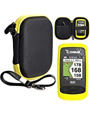 Golf Course GPS Case for Golf GPS, Specially Designed for IZZO Swami 6000 Golf GPS, and Swami 4000, 4000+, 5000 Golf GPS Rangefinder; Garmin Approach G30, G6, G7, CANMORE HG200 (Black with Yellow zip)
