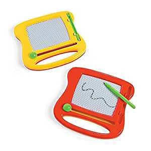 Mini Doodle Board 4.25 Inches - Pack Of 2 - Comes in 2 Colors Which May Vary - Mini Magna Doodle - For Kids Boys And Girls Party Favors, Fun, Toy, Gift, Prize – By Kidsco