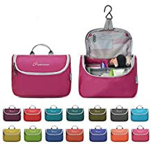 Mountaintop Toiletry Bag/Makeup Organizer/Cosmetic Bag/Portable Travel Kit Organizer/Household Storage Pack/Bathroom Storage with Hanging for Business,Vacation,Household with Hanging Hook(Rose Red)