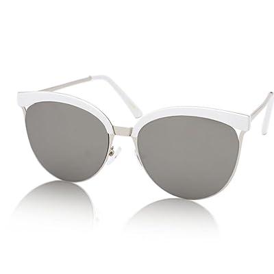&&Lunettes de protection Eyewear - Lunettes de soleil - Lunettes de soleil réfléchissantes couleur demi-trame - Lunettes de soleil grand cadre - Tendances de mode pour hommes et femmes Lunettes - X9 ( Co