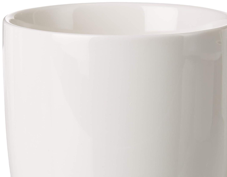 Winnsoma Quattro Porcelain Mugs Set of 4 High Grade Elegant Pure White Euro Style For Coffee Tea Latte Milk Sarah201924