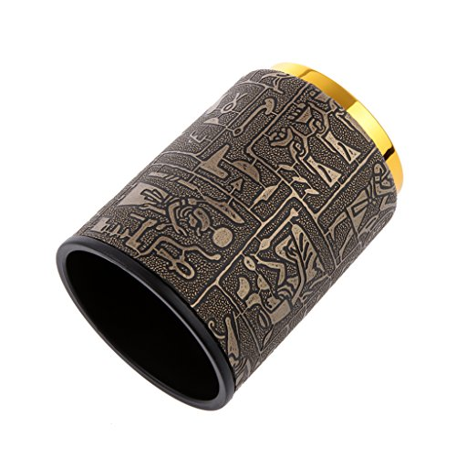 - Flameer Hand Shaking DICE Cup Shaker for YAHTZEE Casino LIAR'S Game Egypt Pattern