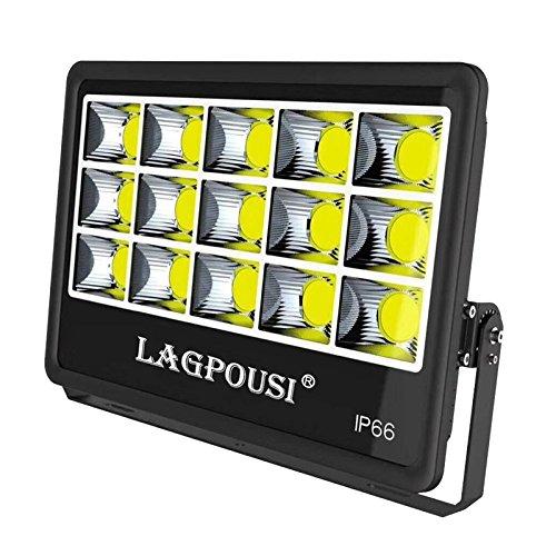 LAGPOUSI 500W LEDフラッドライト、スーパー明るい作業灯、3000Wハロゲン球相当、IP66防水、50000Lm、4000K昼光白、ガレージ、芝生、芝生、芝生用屋外投光器(4000K, 500W) B07DWBY9FZ 500W|4000K