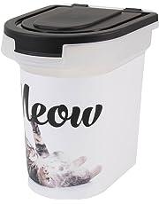 Paw Prints Plastic Pet Food Bin, Meow Photo Design, 15lb