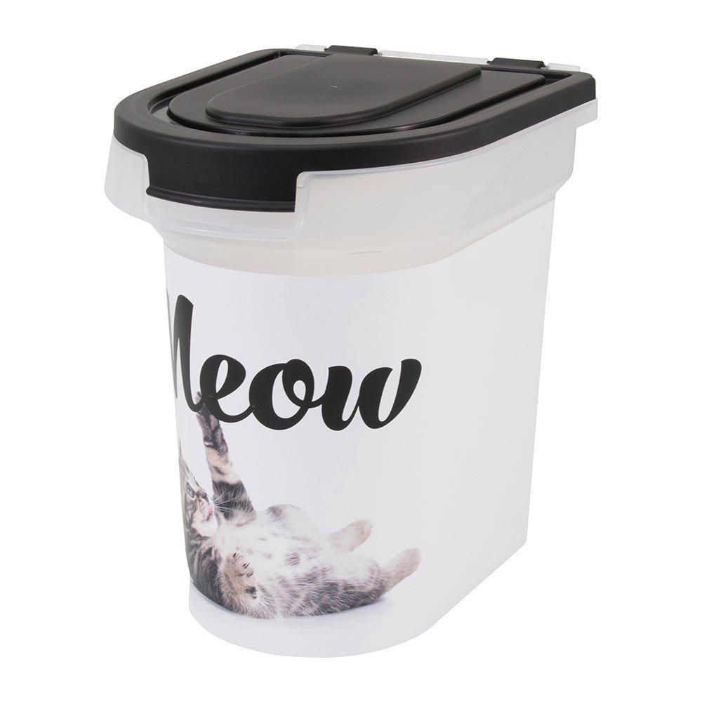 Paw Prints 37910 15 lb. Plastic Pet Food Bin, 12.5'' L x 9.75'' W x 13.38'' H