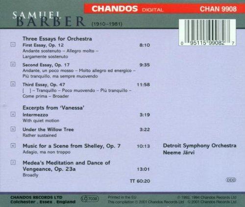 Samuel Barber: Orchestral Works Sampler ~ Jarvi