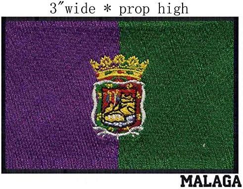 ASTONISH Parche Bordado de la Bandera de España Malaga, 7,62 cm de ...