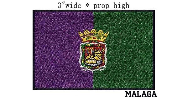 ASTONISH Parche Bordado de la Bandera de España Malaga, 7,62 cm de Ancho, Calidad Eminent, Corona Imperial, Insignia de la Derecha: Amazon.es: Hogar