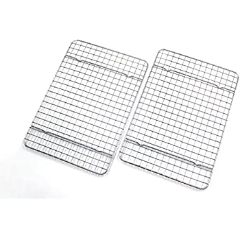 checkered chef cooling racks for baking quarter size stainless steel cooling. Black Bedroom Furniture Sets. Home Design Ideas