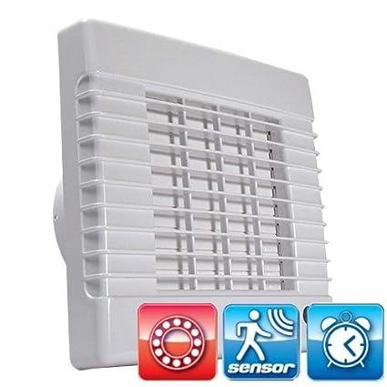 Baño Ventilador con rodamiento de bolas, detector de movimiento y seguimiento DALAP® 150 lvmz