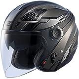 ナンカイ(NANKAI) ZEUS HELMET ゼウス レイヤー ジェットヘルメット ガンメタ/シルバー L NAZ-213 LAYER