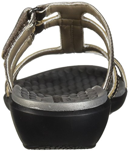 Medium Women's Us Pewter Sonar Sandal Pilot Leather Metallic Clarks 8 Tx1Aqdq