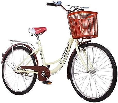 GHH Bicicleta Paseo, con una Canasta Cómoda Bicicleta,Unisex ...