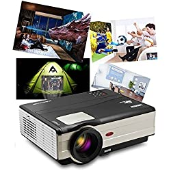 LED Projector, 1080P LCD WiFi Video Projector, with HDMI USB Built-in Speakers Remote Android System, for Home Entertainment Outdoor Movie Gaming
