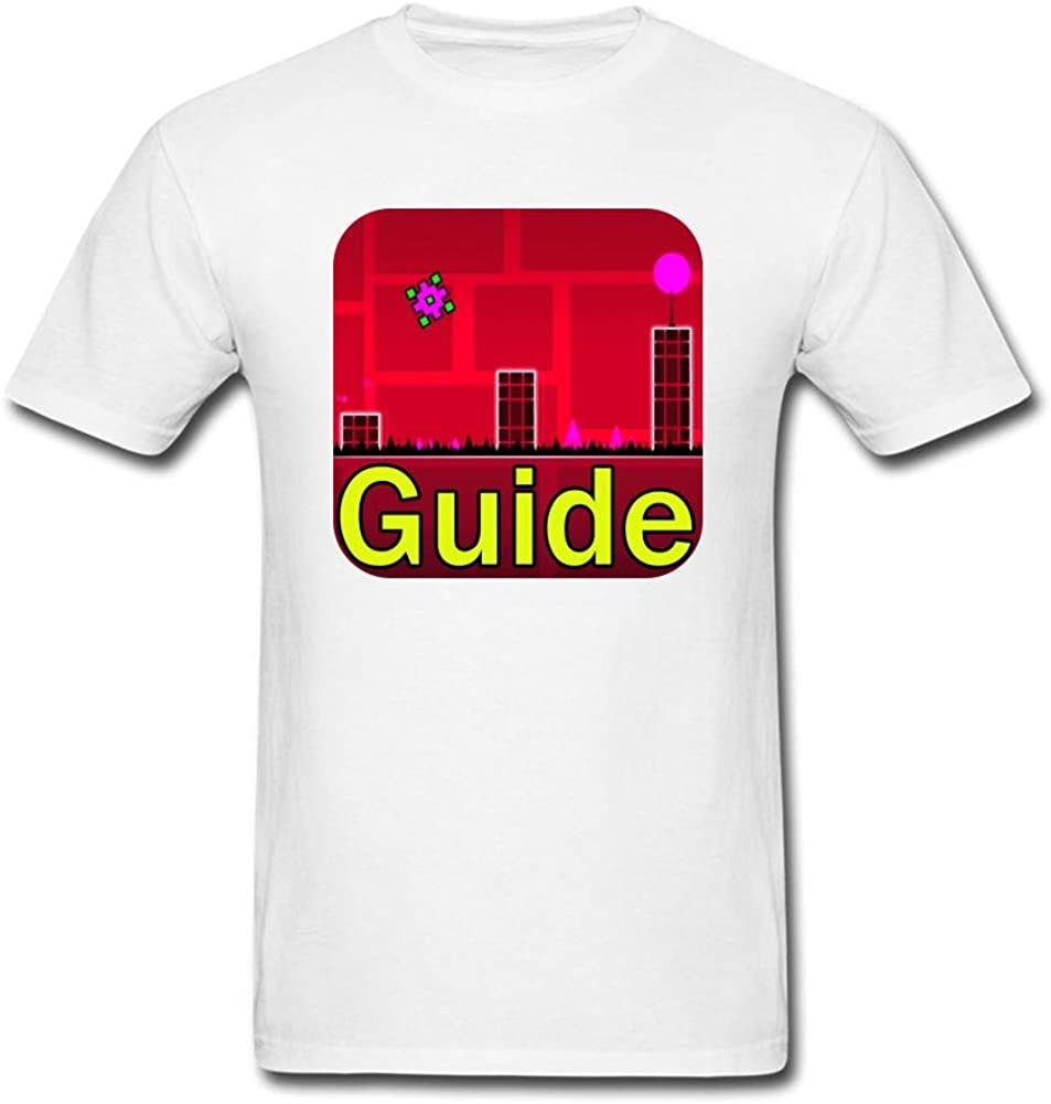 SLJD Men's Tricks and Guide Geometry Dash Lite Design T Shirt