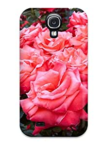 High-quality Durability Case For Galaxy S4(black And White Flowers Tumblr)