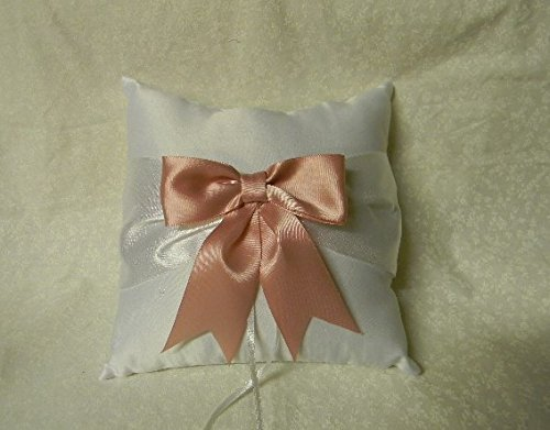 Wedding Party Ceremony Big Pretty Pink Bow Ring Bearer Pillow On Sale by Designed by Regina