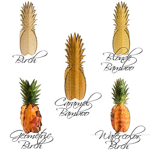Cardboard Safari Wood Pineapple Home Decor Piece | Made in the USA (Watercolor Birch) by Cardboard Safari (Image #1)