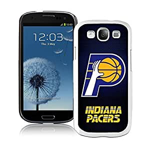 Popular And Unique Custom Designed Cover Case For Samsung Galaxy S3 I9300 With Indiana Pacers 5 White Phone Case