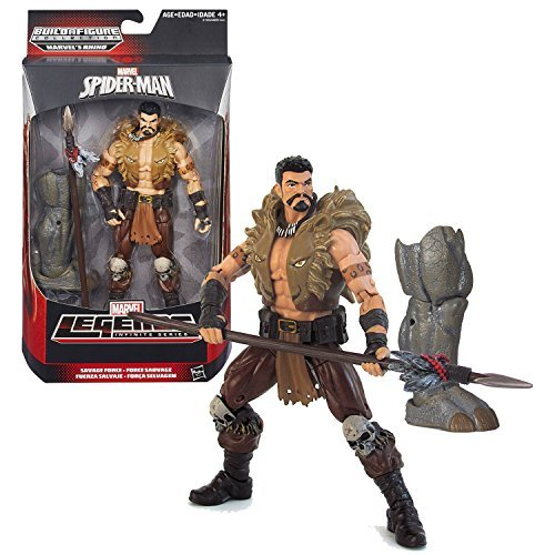 Hasbro Year 2015 Marvel Legends Infinite Series 6 Inch Tall Action Figure - Savage Force KRAVEN with Spear and Rhino's Right Leg