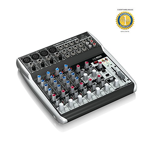 Behringer Xenyx Q1202USB 12-input, 2-bus Analog Mixer with 1 Year EverythingMusic Extended Warranty Free -