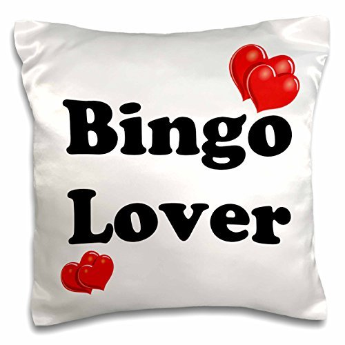 onepicebest Throw Pillow Covers with Words for Sofa Couch-Funny Quotes - Bingo Lover - 18x18 inch Pillow Case by onepicebest