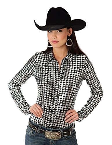 Shiny Houndstooth Print Five Star- Retro Pop (l) (Roper Retro Shirt)