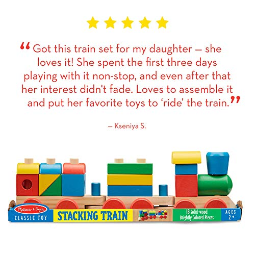 51VtGE0M71L - Melissa & Doug Stacking Train (Classic Wooden Toddler Toy, 18 Pieces, Great Gift for Girls and Boys - Best for 2, 3, and 4 Year Olds)