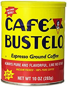 Café Bustelo Coffee Espresso, 10 Ounce Cans (Pack of 4), Packaging May Vary.