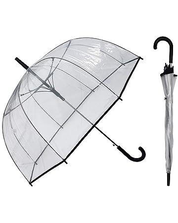 Amazon.com: Paraguas transparente de burbujas de 50 pulgadas ...