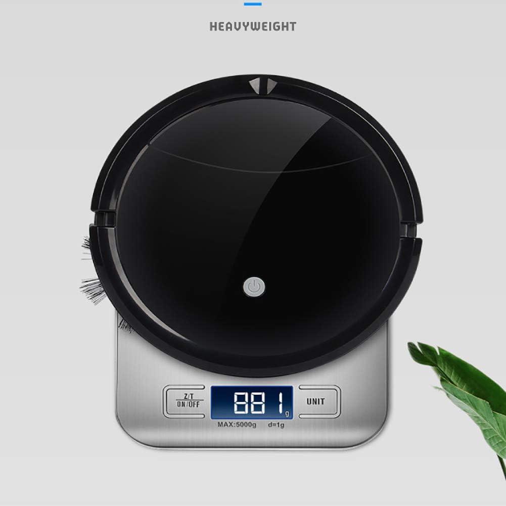 LIGHT Aspirateur Robot, Robot Aspirateur 1800Pa, 7cm Super Mince, pour Poils d\'animaux, Tapis, Sols Durs Black