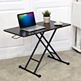 Tangkula Height-Adjustable Standing Desk Converter Raise Up Workstation Sit-Stand Folding Elevating Computer Laptop Notebook Desk W/ Removable Wheels