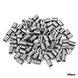 100pcs M5 Stainless Steel Wire Helical Screw Thread Inserts Repair Kit(M5*0.8 * 2.5D)