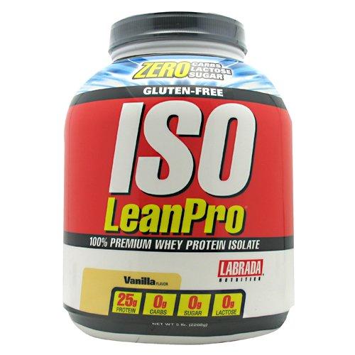 Labrada Nutrition Isoleanpro 100% Premium Whey Protein Isolate, Vanille, 5 Livre
