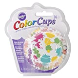 Wilton 415-0625 36-Pack Color Baking Cup, Standard, Paint Rainbow