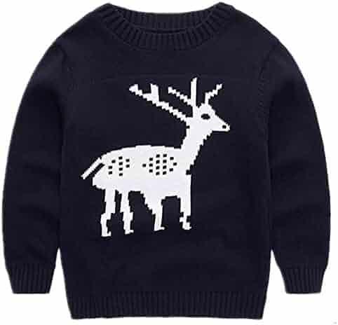 5ab7752c22e4 Mullsan Children's Fireplace Lovely Reindeer Sweater Christmas Birthday Best  Gift