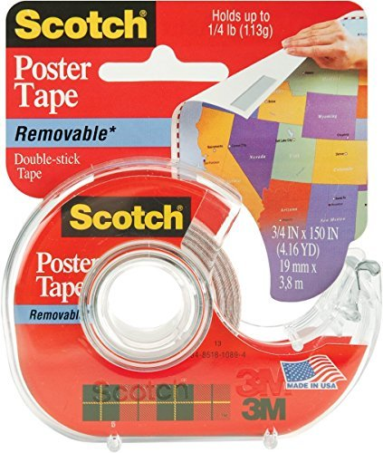 3M 109 Wallsaver Removable Mounting Tape, 2-pack