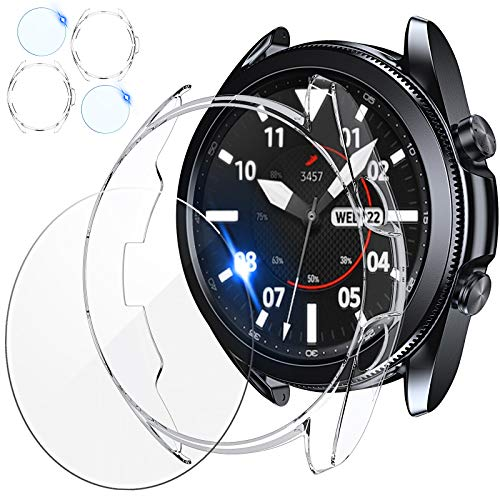 2 Protector Pantalla + 2 Funda P/ Galaxy Watch3-45mm clear