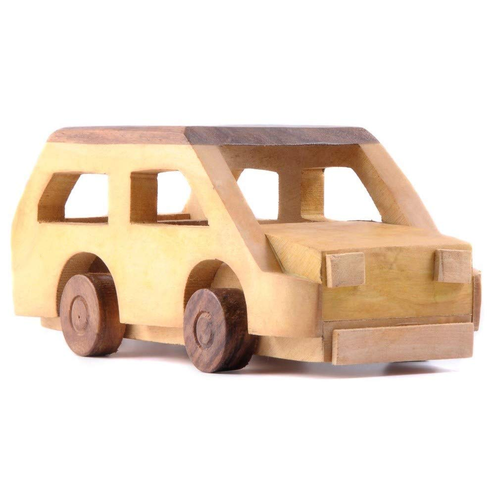SHINEWOOD Wood Car Toy for Kids