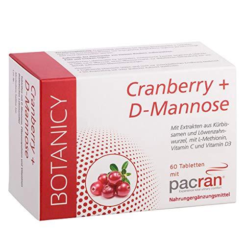 Cranberry + D-Mannose, entzündungshemmende, antibakterielle Tabletten (keine Kapseln) gegen Blasenentzündung, Harnwegsinfekti