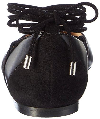 HUGO Fatima 10199298 01, Bailarinas para Mujer Negro (Black)