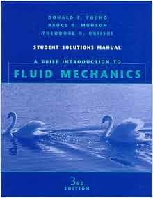 fluid mechanics third edition solution manual
