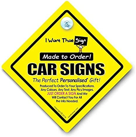 Boy and Girl Twins Car Sign Twins On Board Car Sign One of Each Suction Cup Car Window Sign Baby On Board Style