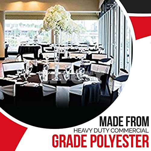 Spring Rose(TM) 120 Inch Black Polyester Round Tablecloth (set of 10). by Spring Rose (Image #4)