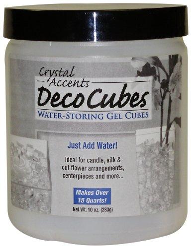 Dc Bead - Deco Cubes DC-C10 Clear 10-Ounce Jar