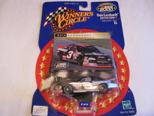 - 1999 Dale Earnhardt Sr #3 GM Goodwrench Service Plus Monte Carlo Las Vegas No Bull Race 1/64 Scale Diecast Winners Circle With Card Insert Lifetime Series # 2 of 6