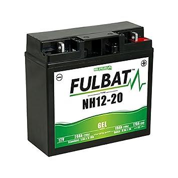 Fulbat Batería motocultor/Moto Gel NH1220/SLA12-20 12V 20Ah